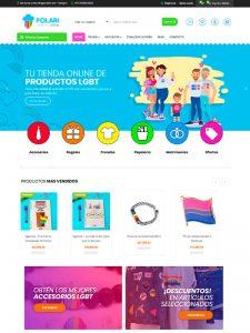 Diseño de pagina web - Tienda virtual Polarishop