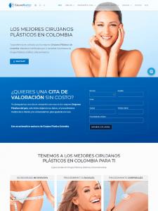 Proyecto de pagina web de Cirujano Plastico Colombia - Publicidad Digital