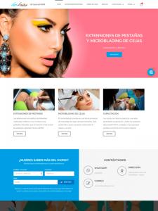 Sitio web de nuestro cliente Lynlash - Diseño de paginas web informativas