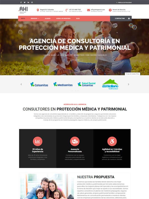 Ahi Agencia - Pagina Web