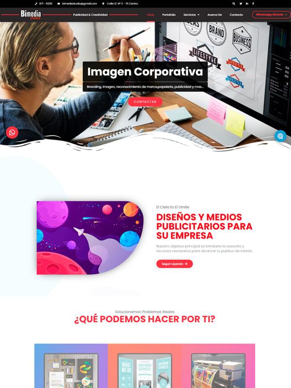 Sitio web de Bimedia Studio