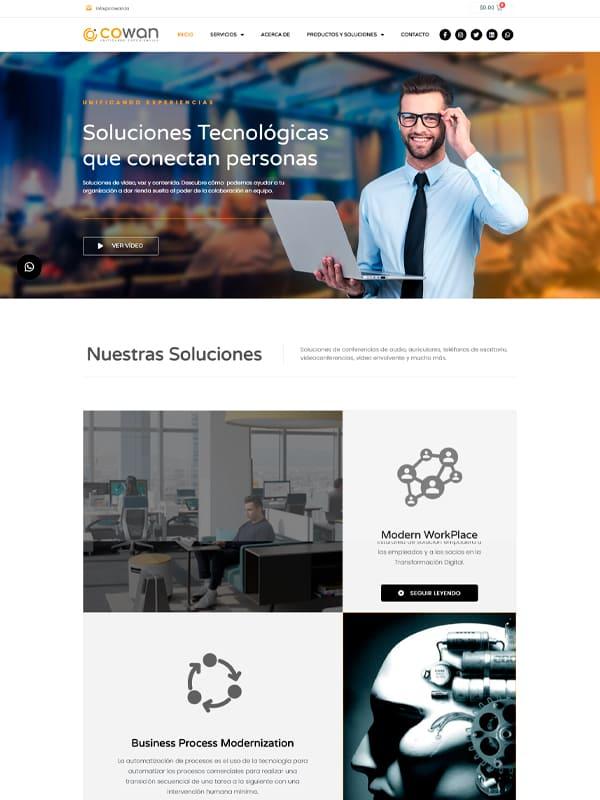 Diseño de paginas web - Cliente Cowan