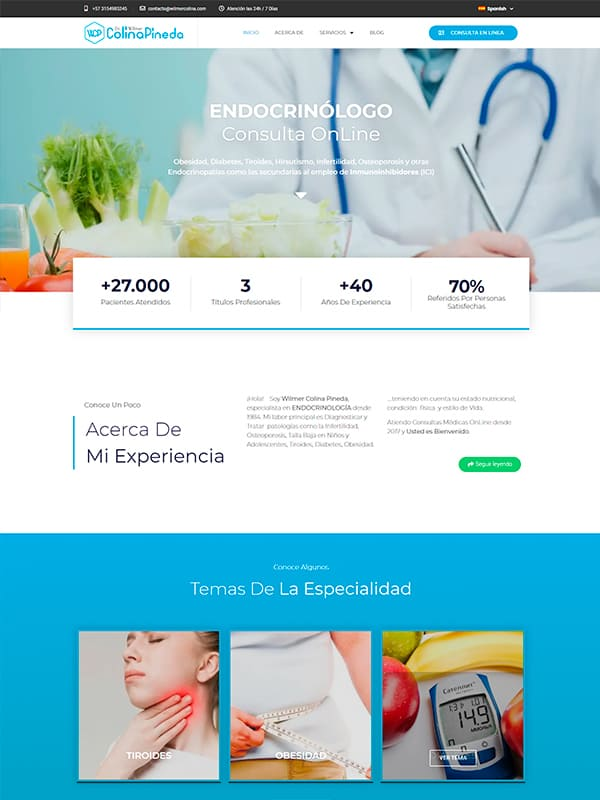 Dr. Wilmer Colina Pineda - Pagina web informativa
