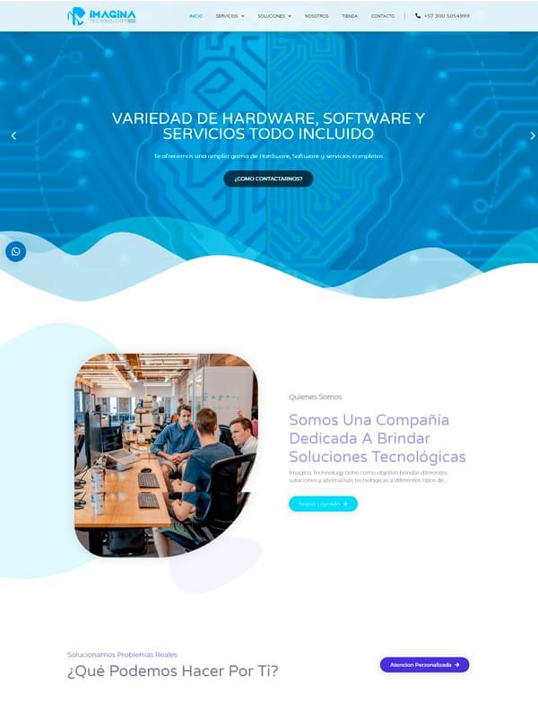 Sitio Web de imagina technology