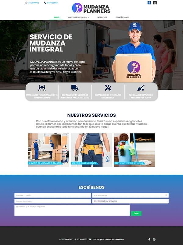 Pagina web de Mudanza Planner