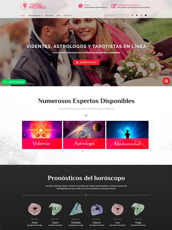 Pagina web de mundo Esoterico