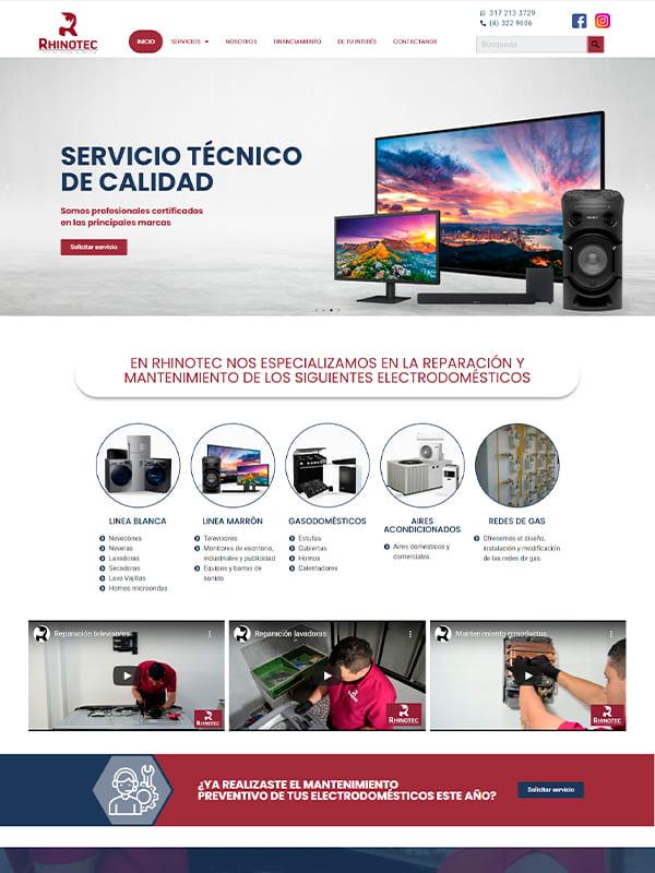 Pagina web de Rhinotec - Pagina Web Informativa