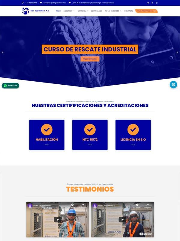 SST Ingenierias Web Informativa