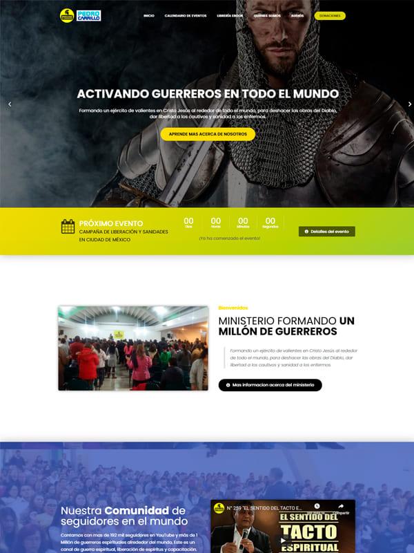 Un millón de Guerreros - Diseños de paginas web
