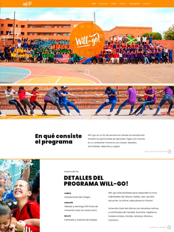 Sitio web de Will-Go - Web Informativa